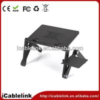 Foldable ergonomic laptop table aluminum alloy +ABS Usb Ports Cooling Fans Mouse Pad portable notebook laptop desk