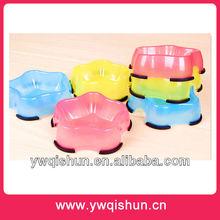2014 New Wholesale Star Shape Plastic Pet Bowl
