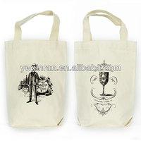 Custom Cotton Liquor and Wine Bottle Tote Bag