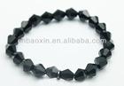 black glass beads bracelet
