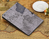 New Arrival World Map PU Genuine Leather Standing Smart Protective Cover for iPad Air Cover Leather Case Pouch Auto Sleep