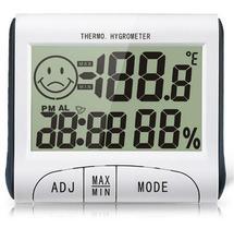 Max Min Desk Clock Thermometer Hygrometer Clock with Comfort Smile
