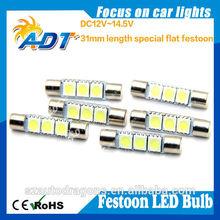 Sales promotion festoon 3leds led lights bulbs mirror lamp interior lights for chevrolet for ford for mazda for bmw