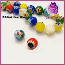 Factory price Bead,millefiori glass,multicolored 12mm round