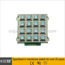 China Professional Waterproof IP65 Rated Rugged Numeric Keypad