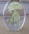 Luminoso de cristal vidro água-viva, vidro animal marinho