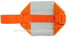 Reflective Orange Armband ID Holder