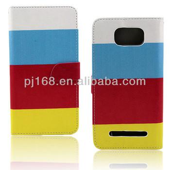 Hybrid Color Flip Leather Phone Case for BLU Studio 5.5