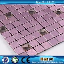LP137 best price silver purple mosaic mirror glass wall art