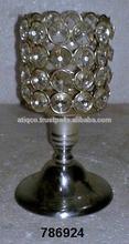 Iron & Glass Crystal Votive Tealight T- Light Candle Holder