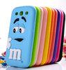 For Samsung Galaxy S3 I9300 3D cartoon Cute Silicone MM Rainbow jelly Bean Chocolate Case