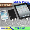 Power bank dual port wallet style portable charger power bank 20000mAh 30000mAh 500000mAh