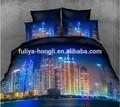 Alta calidad escena de la ciudad 3d juego de sábanas de cama