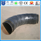 low heat loss underground fiberglass insulation thermal steam pipe fitting elbow