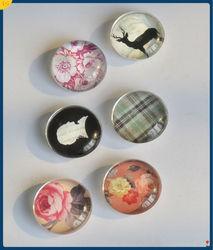 3D epoxy and glass Fridge Magnets