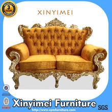 2014 Very Popular And Hot Selling Orange Velvet Sofa XYM-H176