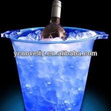 LED Beer Bucket/bottle holder/LED Plastic cooler cup
