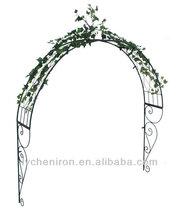 wrought iron metal wall-mounted garden arch/Rosenbogen