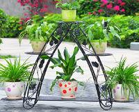 home decor garden line patio furniture wholesale handicraft step 3 tier metal flower stand wrought iron pot plant holder
