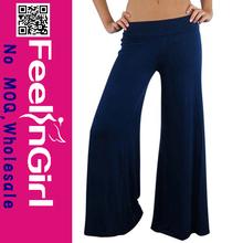 wholesale newest summer fashion bule cheap ladies chiffon palazzo pants