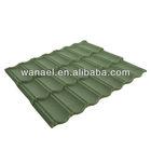Stone-coated shingle-type metal roof tile