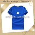 precio barato t camisa de guangzhou con el logotipo de apple distribuidor al por mayor