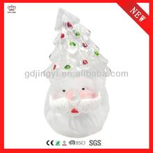 Acrylic santa head with LED light