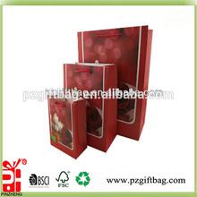 valentine offset printing paper shopping bag