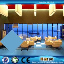 wholesale 60X60 Light ocean blue bathroom polished porcelain floor tile