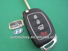 New arrival remote control shell for Hyundai ix45 3+1 button flip remote key shell