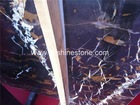 Natural Polished Black and Gold Marble Portoro Marble