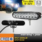Mini 7Inch 40W Led Work Light Bar Ellip Beam Driving Lamp Offroad 4*4 DRL