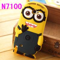 3D Cute Silicone Cartoon Despicable Me Minion Case For Samsung Galaxy Note 2 N7100