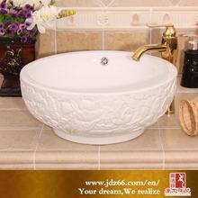 outdoor wash basin sinks Chinese Good Quality Bathroom White Ceramic Art Basin