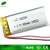 802248 battery 3.7v 800mah lithium polymer battery for digital photo frame lipo battery