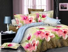 100% brushed polyester 3d printed bedding set