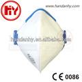 Hy8222p2 valvulado plegable de la boca de polvo máscara)