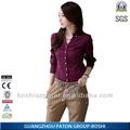 Alta calidad 2015 de la oficina uniforme para mujeres de la blusa con precios competitivos