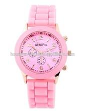 Fashion christmas geneva gift silicone jelly watch