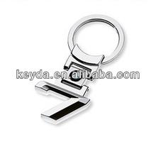 High Quality Custom Metal Car seven LOGO Keychain/Spinner Keychain