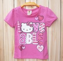 Fashion kids girls t shirt Hello kitty t shirt for girls