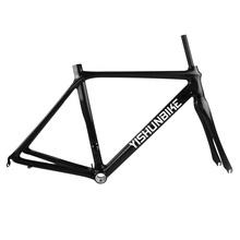 2014 YISHUNBIKE special offer 58cm DI2 BB30 & BSA 700c full carbon road frame custom painting carbon road bike frame YS-032
