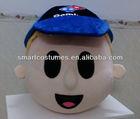 custom make mascot costumes domino's pizza mascot head
