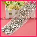 2014 diseño de la flor venta caliente de la boda de diamante de imitación de recortes para los vestidos de la correa wra-378
