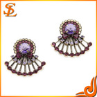 middle east style earring multi-color flower fashion ear pendant