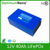Long life cycle lifepo4 12V 40ah Lithium Ion battery 12v