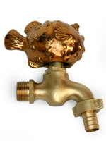 Antique High Quality Basin Brass Faucets Animal Model Fish