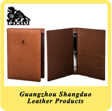 Custom PU Leather Paperboard Service Guide Directory Folder
