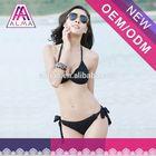 2014 sexy fashion deep v-neck black one piece women bathing suit hot bikini girls sling pictures