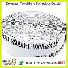 Buttonhole elastic webbing,polyester webbing coated with tpu,elastic band webbing